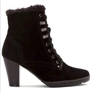 Blondo waterproof heeled boots suede 9.5 Lili